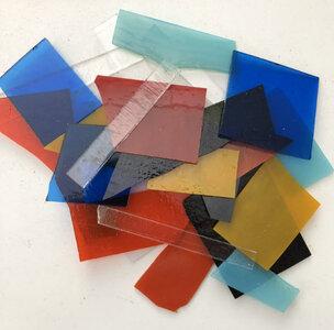 COE 90 rest scrap glas (3 mm dik)